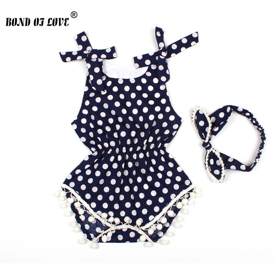 Infant Baby Boy Girl Romper Cotton Dress Climb Romper Headband 2pc Jumpsuit Lot Toddler Girls Summer Print Sleeveless Sunsuits
