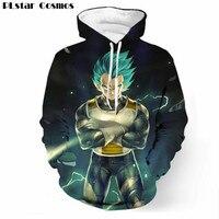 PLstar Cosmos Anime Dragon Ball Z Goku Vegeta Print 3D Hoodie Men Sweatshirt Pullovers Women Cool Hoodies Green Plus size 5XL