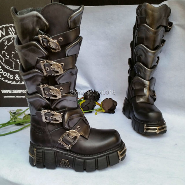eda63d6300c New Rock boots M.738-S1, Rocker Biker Goth Punk Leather shoes made in Spain