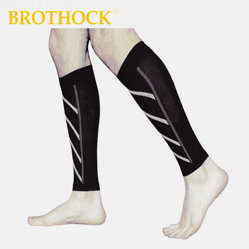 Brothock Compressed Thin Leg Sets Sports Socks Pressure Socks Night Run Fluorescent Stockings Leggings Basketball Running Sock