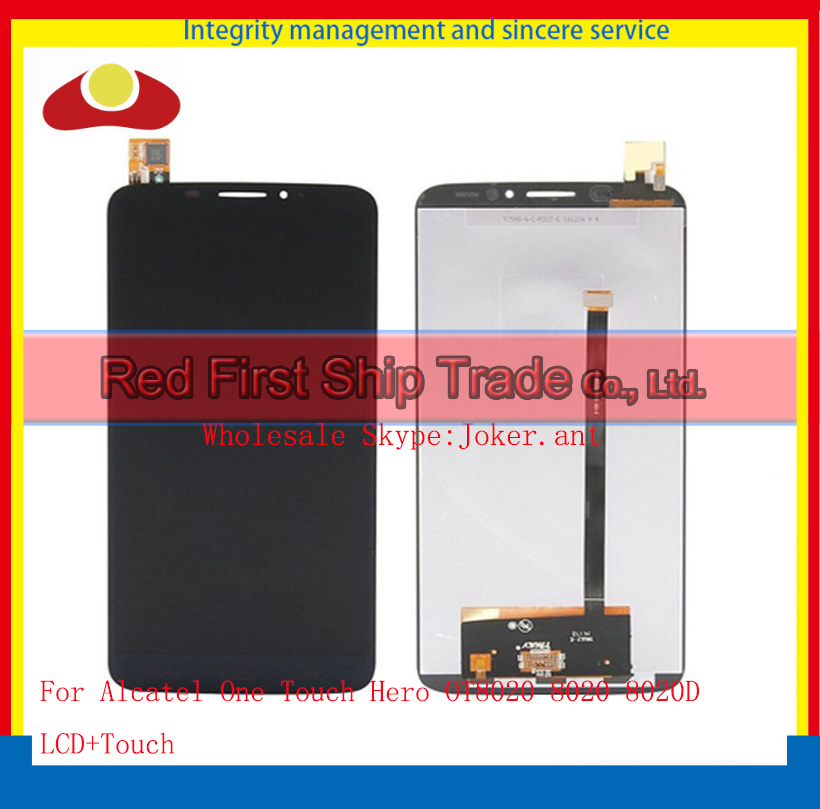 6.0 For Alcatel One Touch Hero OT8020 8020 8020D Full Lcd Display Touch Screen Digitizer Panel Assembly Complete Black+Track