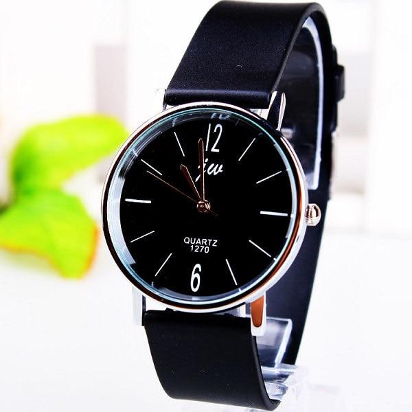 Fashion Jw Brand Casual Quartz Women Men Unsex Lovers Clock Leather Strap Student Watch Lover Wristwatches Relogio Masculino