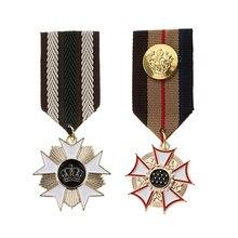 2 шт. Мужская и Женская Геометрическая военная форма медаль мужской костюм брошка на лацканы Орел звезда Готический значок