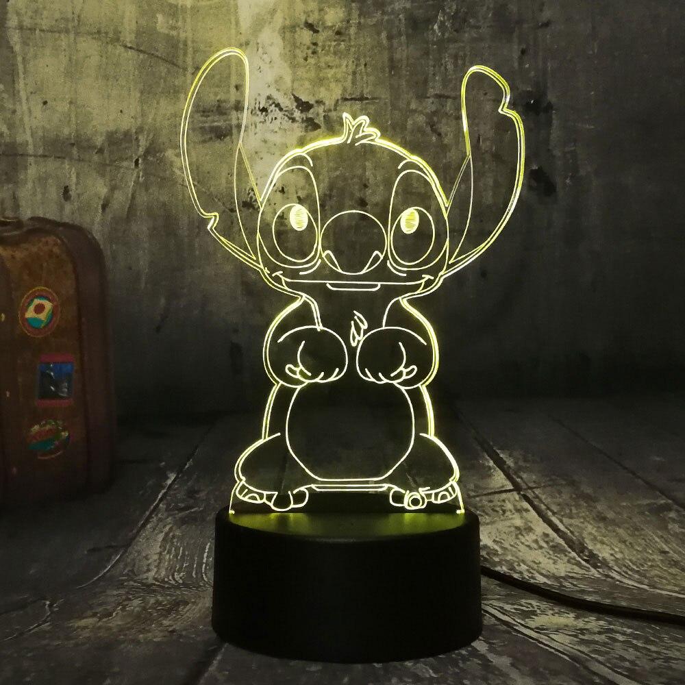 acrílico crianças candeeiro de mesa lâmpada cabeceira