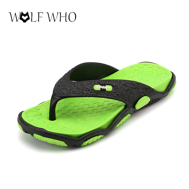 Wolf Who Beach Slippers Flip Flops Slippers EVA Non-slip Men Shoes Summer Masculino Adulto Sapatos Hombre Sapatenis Masculino nyx professional makeup кейс визаж beginner makeup artist train case beginner