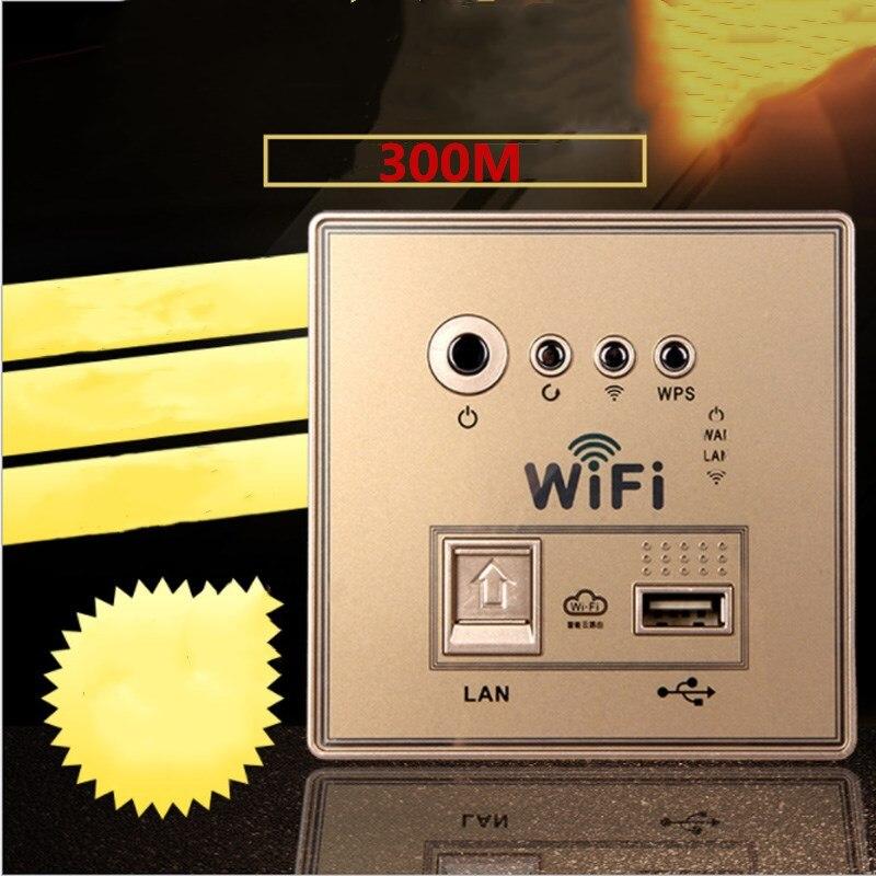 Parede sem Fio Fonte de Alimentação Roteador sem Fio Novo Painel Embutido Wifi 220 v Parede Soquete 300 m 86-tipo ap