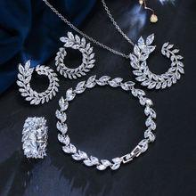 Свадебные Ювелирные наборы для невесты кубический цирконий Кристалл