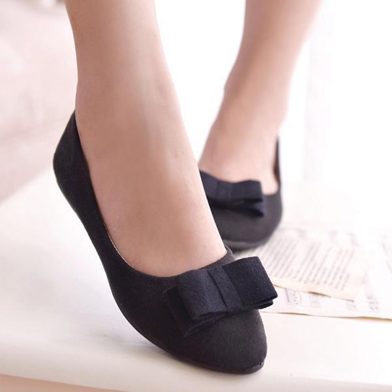 Women's New Ballet Flats Autumn Loafers Female Bowtie Pointed Toe Slip On Shoes Ladies Casual Moccasins Fashion Footwear bowtie ballet flats women sweet casual single shoes summer soft open toe sandals slip on fashion ladies large size 41 moccasins