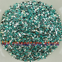 10000pcs Bag SS6 2mm Acid Blue Color Resin Crystal Rhinestones Nail Art Mobile Phone Stick Drill