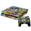 Fashion BOMB Bombing Graffiti Sticker For Sony for PS4 Playstation 4 Console 2 Controller Vinyl Gift