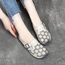 AARDIMI/женская летняя обувь ручной работы в стиле ретро; однотонные женские шлепанцы из натуральной кожи; женские Вьетнамки; женская обувь; zapatos mujer