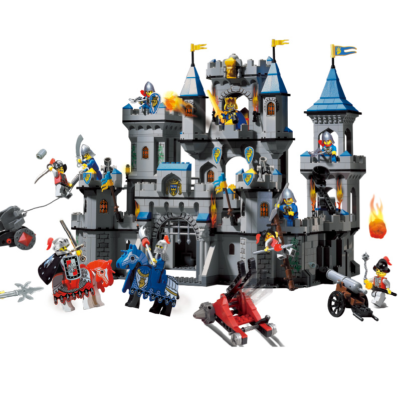E Model Compatible with Lego E1023 1393pcs Castle Models Building Kits Blocks Toys Hobby Hobbies For Boys Girls enlighten models building toy compatible with lego e1023 1393pcs castle blocks toys hobbies for boys girls model building kits