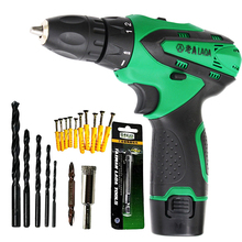 LAOA 12V Electric Screwdriver Lithium Battery Drill for Wood Tile
