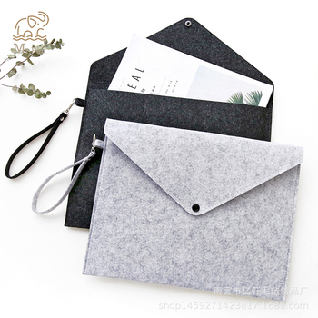 Simple Solid Wool Felt A4 File Folder Big Capacity Document Bag Simple Business Briefcase Paper Ipad Storage Bag School Gifts a4 folder for documents simple solid black color leather document paper bag business briefcase filing products storage organizer