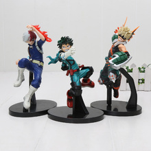 3 pièces/ensemble mon héros académique Figure jouets Midoriya Izuku Bakugou Katsuki Shoto Todoroki Shoto pas de héros PVC Figure modèle jouets