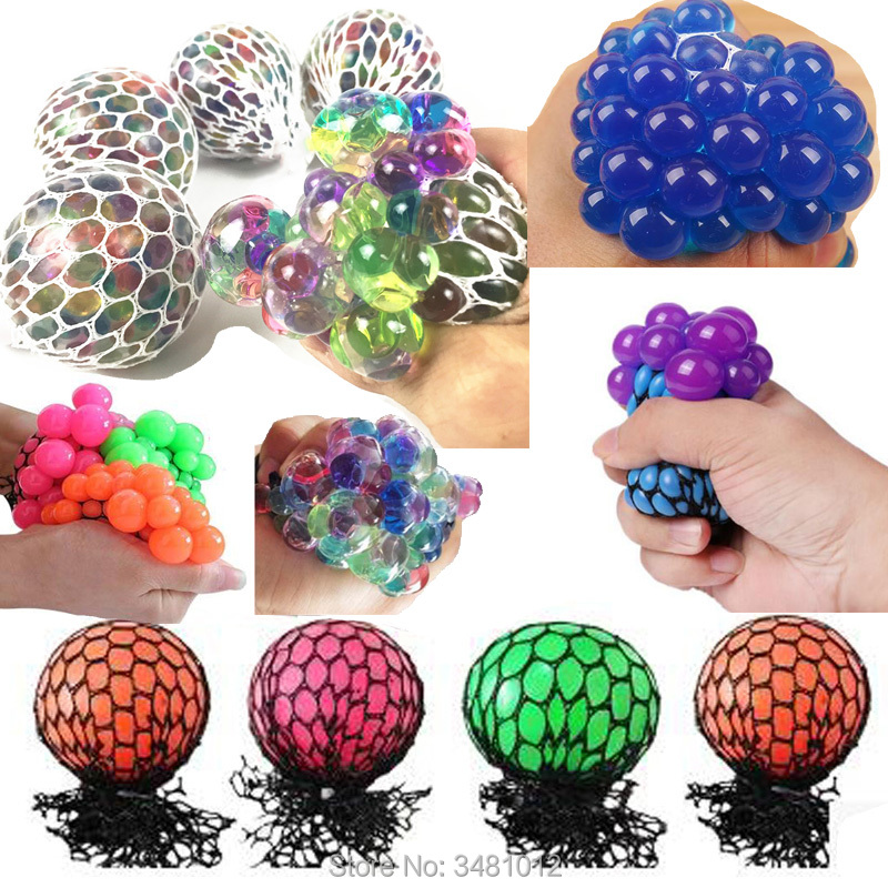 Squishy Grape Mesh Ball Squishes Antistress Kawaii Soft Rainbow Squeeze Squishys fun Anti-stress Slow Rising Funny Gadgets Toys funny gadgets football squishy slow rising cream scented decompression kid toys anti stress ball kawaii squishies joke toys gift