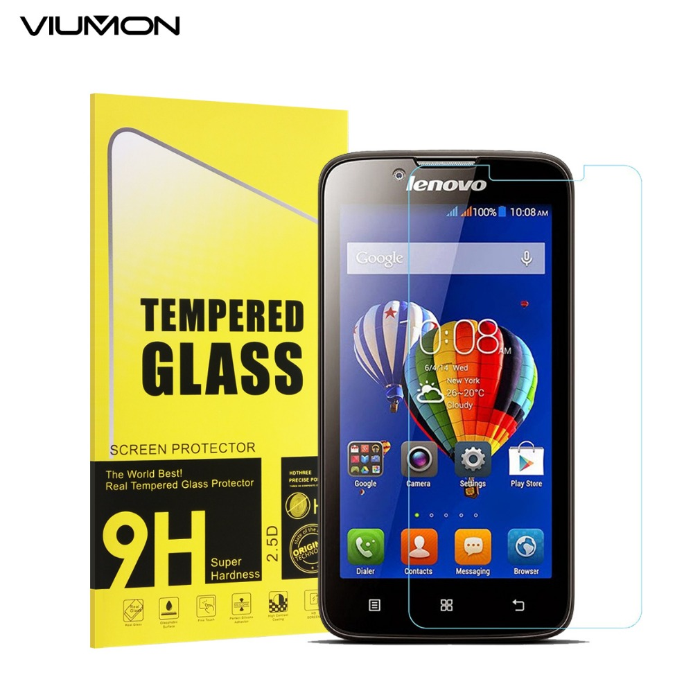 For Lenovo A328 A328T A 328 Tempered Glass 9H 2.5D Safety Protective Glass Film Screen Protector with Retail Box and Tools