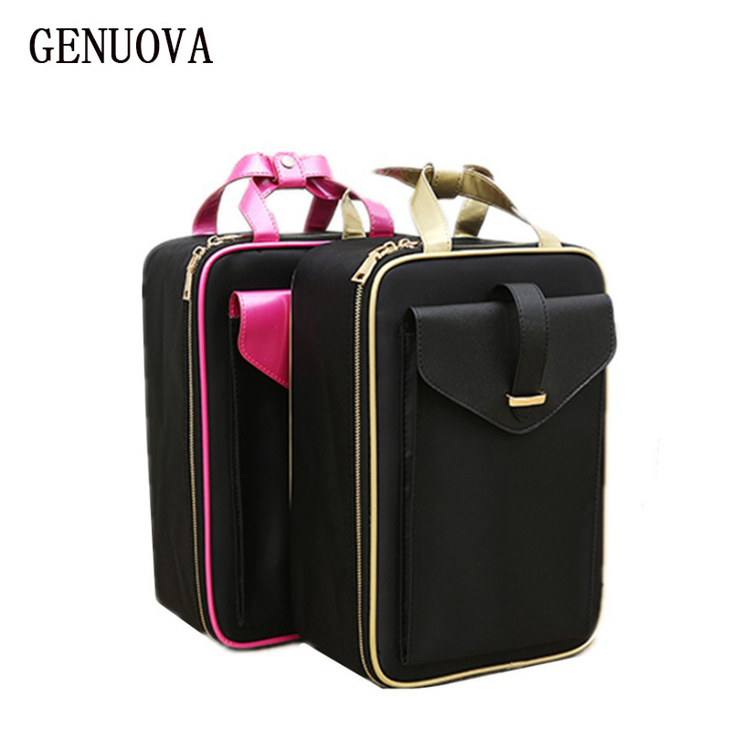 Travel Fashion Waterproof Cosmetic Case Big Capacity Portable Ladies Professional Makeup neceser Organizer Storage Bag Suitcases luxcel travel accessory fashion cosmetic case bag large capacity portable women makeup necessaire storage