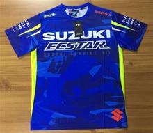 O Envio gratuito de 2018 Nova Mens T-shirt MotoGP Para SUZUKIGSX-RR Moto Equitação Esporte de Secagem Rápida Curto Jersey T camisa