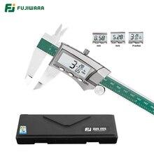 فوجيوارا 0 150 مللي متر شاشة ديجيتال ستانلس ستيل 1/64 جزء/مم/بوصة LCD الفرجار الورنية الإلكترونية