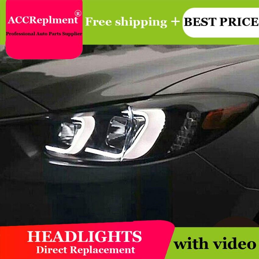 Style d'éclairage automatique LED lampe frontale pour Mazda 6 LED phares 2015 nouveau Mazda6 phare LED drl H7 hid Q5 bi-xénon lentille feux de croisement