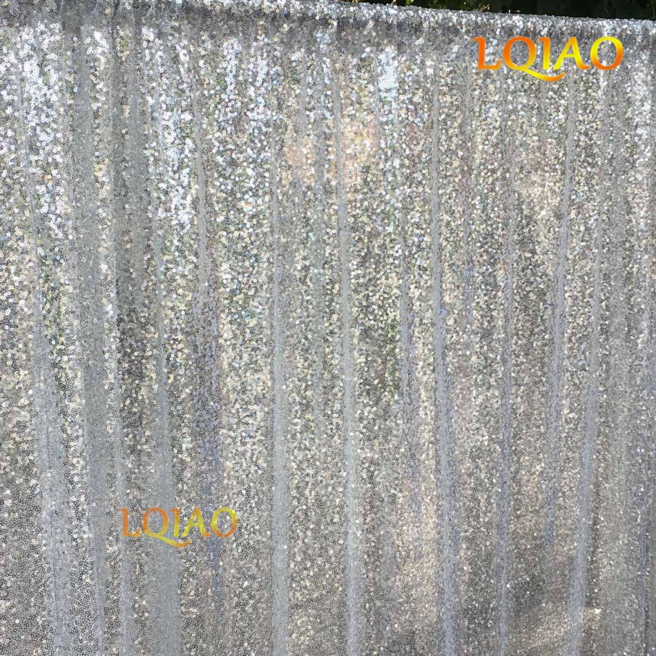LQIAO Silver Photography backdrops 240*270cm(8*9ft) Sequin Fabric Curtain Backdrop background Wedding Photobooth backdrops DecorLQIAO Silver Photography backdrops 240*270cm(8*9ft) Sequin Fabric Curtain Backdrop background Wedding Photobooth backdrops Decor