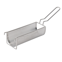 ITOP Stainless Steel Fried Basket For 30CM Long Potato Chip Squeezers Commercial Long Fried Potato Chip Container