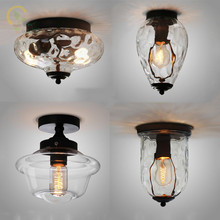 Modern Creative Glass Ceiling Lights European Retro Corridor restaurant lustres Ceiling Lamps Crystal pineapple Glass Plafonnier