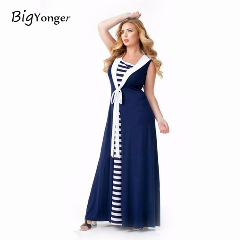 Buy Cheap Dress women 2017 New Arrival V-Neck Dress Plus Size Sleeveless Ankle-Length Casual Style For Woman In Summer In High Quality
