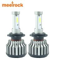 Meetrock 2x H4 H7 H1 H11 Hb3 9005 Hb4 9006 COB LED Headlights 80W Car LED