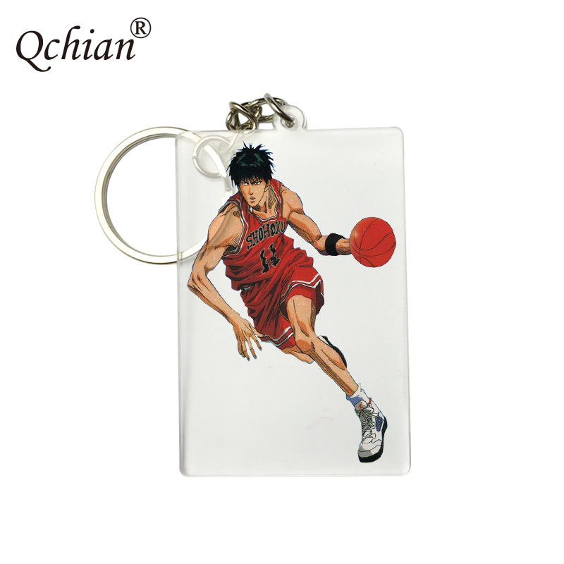 Anime SlamDunk Basketball Master HD Fine Comic Printing Series Decorative Pendant Keychain Logo Customization