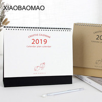 2019 Настольные календари еженедельник месячный план To Do List Настольный календарь ежедневно Rainlendar простой стиль Настольный календарь