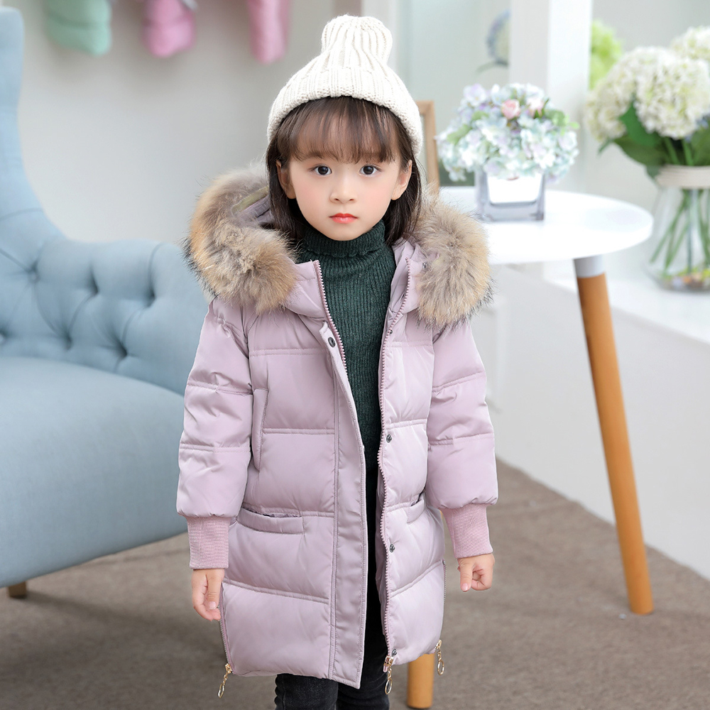 XYF9937 Girls Kids Winter Down Jackets 80% Duck Down Boys Winter Jacket Children Down Coat Keep Warm Outerwear 2-8T Coat boys winter jackets 80