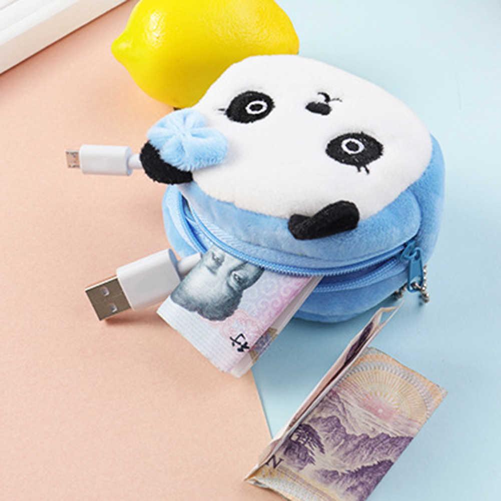 Lindo juguete de peluche pequeño bolso de juguete Panda perro conejo oso Animal pequeño monedero cremallera dinero billetera niños cumpleaños regalo
