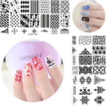 YICAI 1Pcs Rectangle Stainless Steel 40 Pattern Choice Plate For Stamping Nails DIY Nail Art Template Tools YICA1-40