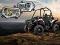 2x Polaris Ranger and Sportsman LED Headlight Kit ATV UTV Light Accessories Projector Headlight for Polaris Ranger Side X Sides