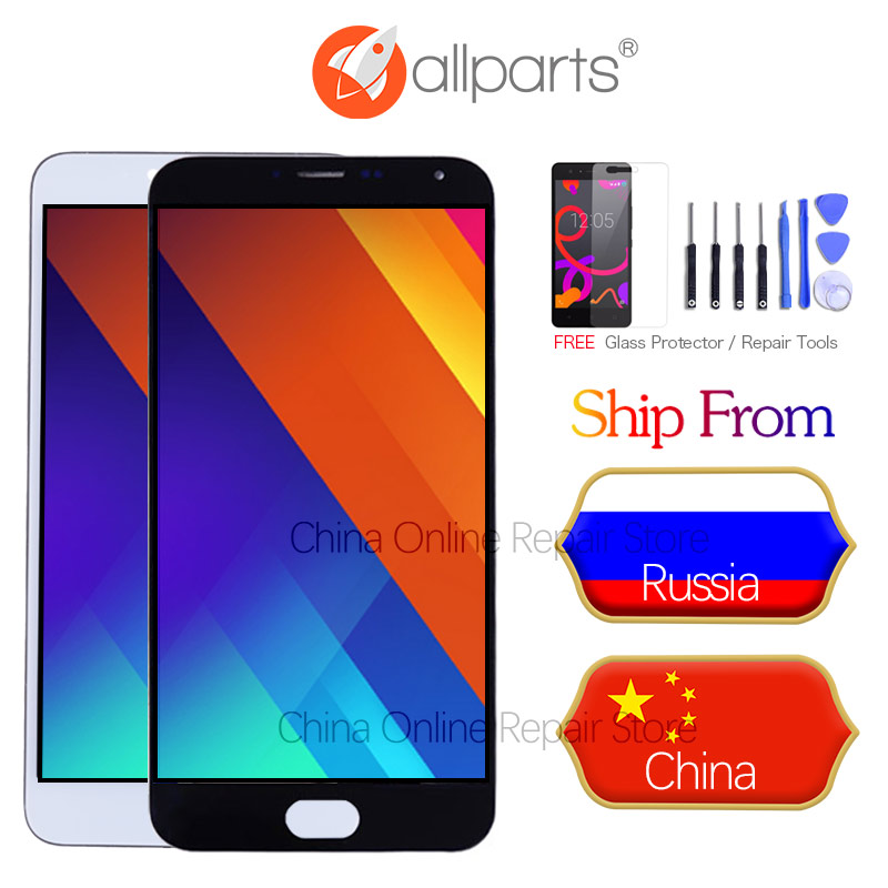 No Dead Pixels LCD For MEIZU M5 Display Touch Screen Digitizer with Frame M611D M611H LCD For MEIZU M5 LCD Replacement