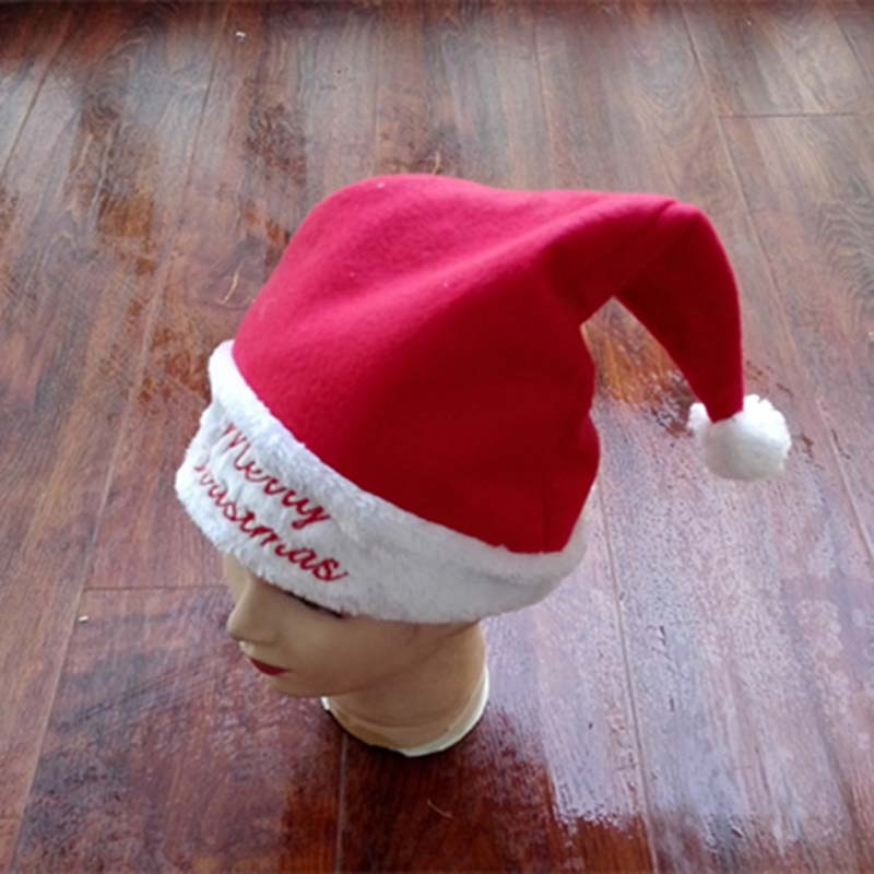 1 Color Festival Santa Claus Hat Beanies For Adult Women Winter Warm Ear Embroideary Letter Christmas Day Cap Skullies bingo 10m christmas inflatable arch door with santa claus cartoon on the top for christmas party decoration festival toy