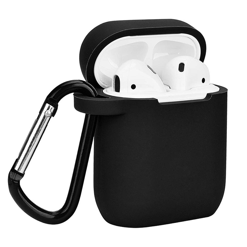 Solid Color Silicone Dustproof Protector Case Cover For Apple Airpods Charge Box Good Quality