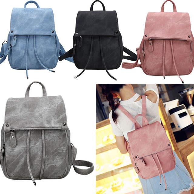2019 Cute Women Backpack PU Leather School Bags Teenagers Girls Top-handle  Backpacks Racksack Popular eb0c825acc367