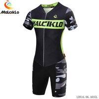 Malciklo Pro Ropa Ciclismo Maillot Cycling Jersey Sets Men Triathlon Skinsuit Bike Clothing Shorts sleeve Suit