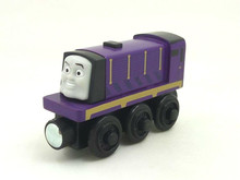 RARE NEW Thomas And Friends Wooden Magnetic Railway Model Train Engine Track Boy / Kids Toy PURPLE TRAIN
