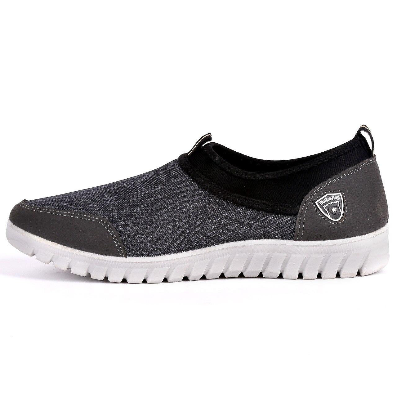 Zapatos Caminar Grande 48 Oscuro Zapatillas Transpirable Calzados Mocasines Verano Hombres azul Casual Slipon 38 gris Tamaño Cómodos Negro 4dzPqy1x