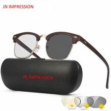 JN ransição IMPRESSÃO Óculos De Sol Fotocromáticas Óculos de Leitura  Presbiopia Eyewear com Dioptrias óculos Das Mulheres Dos Ho. 635d6c0105