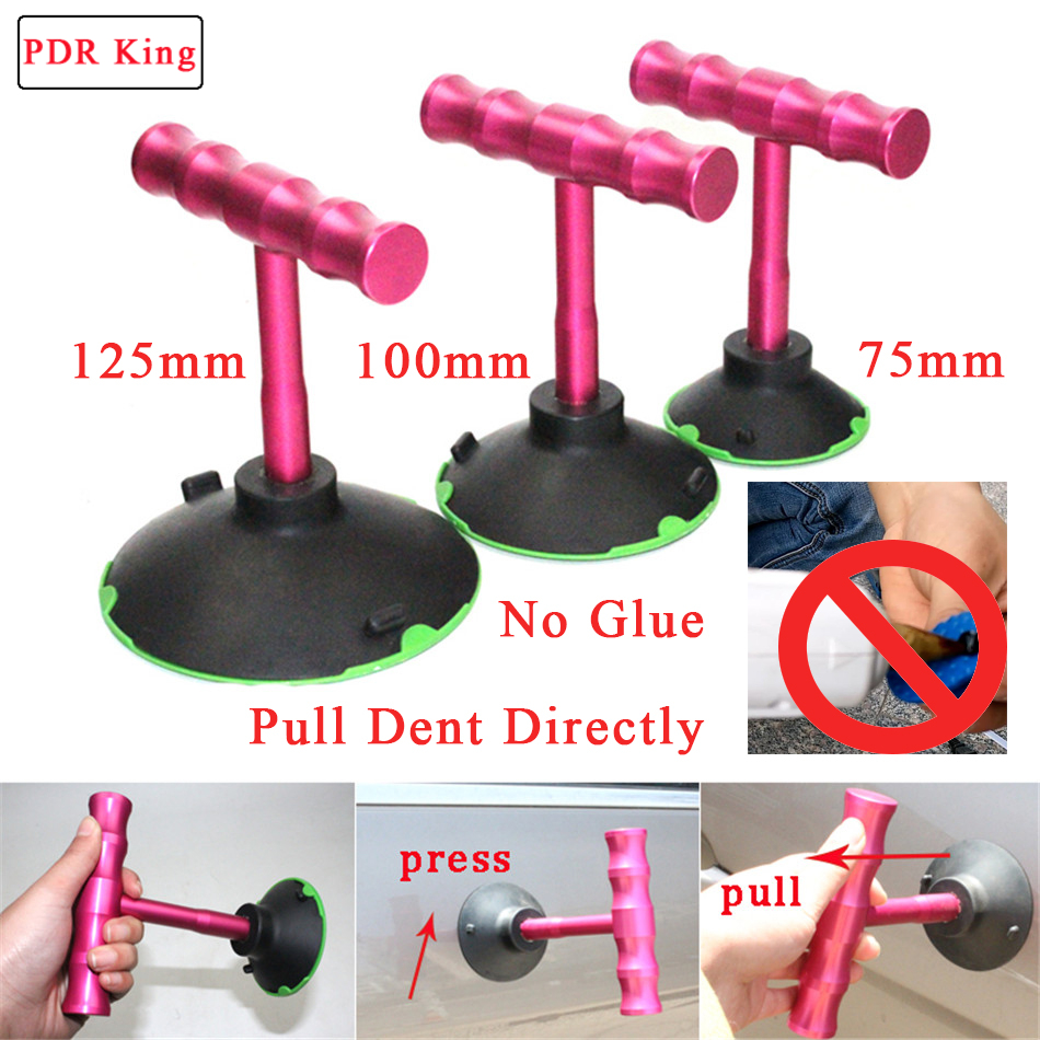 цена на T puller suction cups No glue needed Dent puller tools car dent repair kit PDR Tool Paintless Dent Repair Tool kit