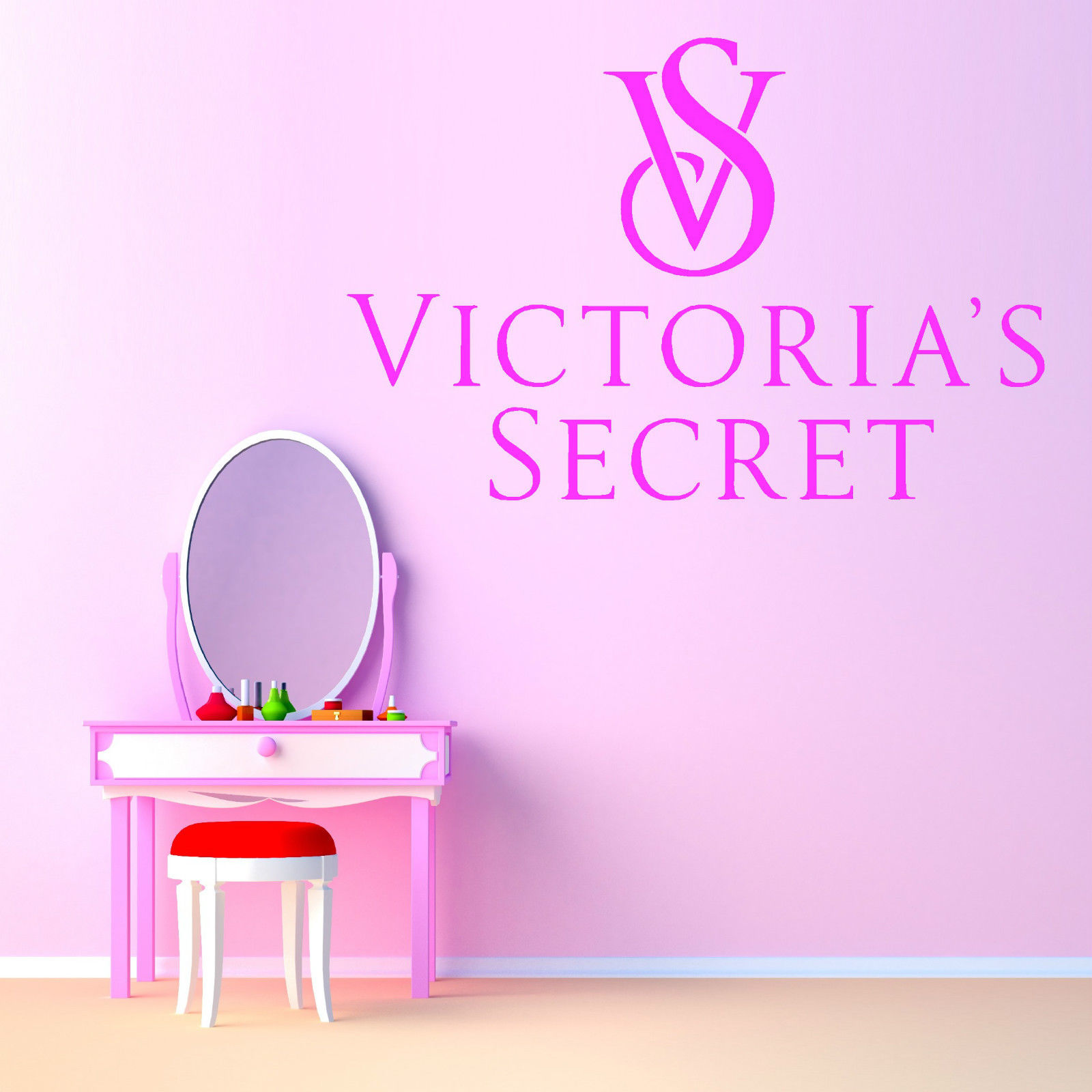 Fashion Removable Wall Sticker Victorias Secret Victoria S Secret Vinyl Wall Art Sticker Decal Free Shipping Wall Stickers Aliexpress