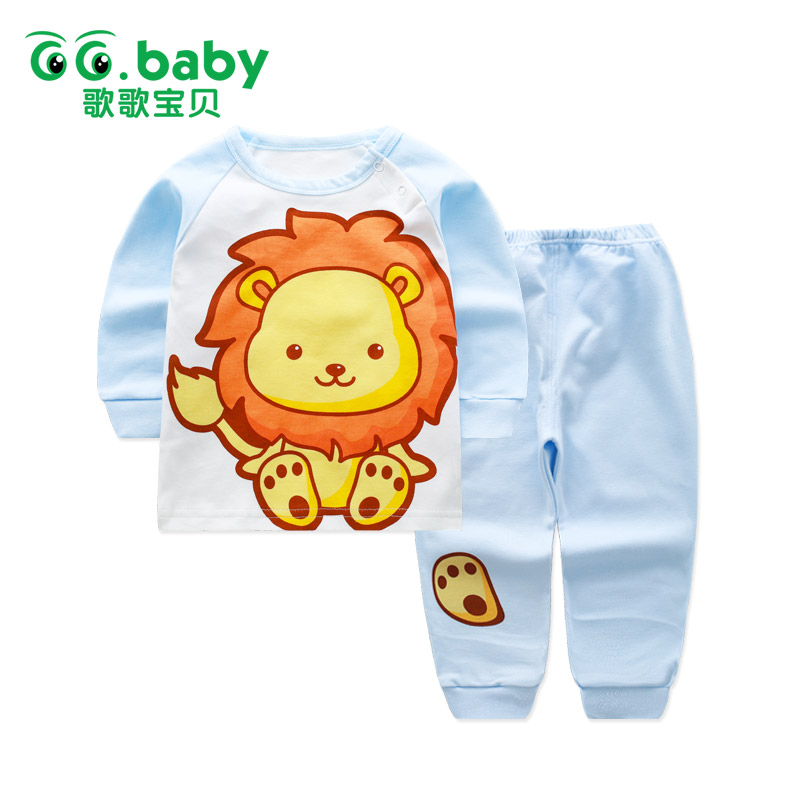 2pcs Baby Boy Clothing Set Lion Baby Boys Outfits Clothing Sets Boys Kids Clothes Infant Baby Suits Long Sleeve Cotton Pajamas children s suit baby boy clothes set cotton long sleeve sets for newborn baby boys outfits baby girl clothing kids suits pajamas