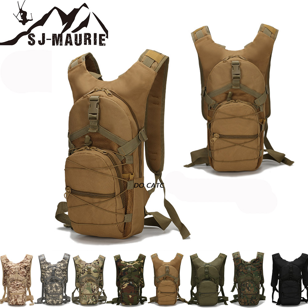 SJ-Maurie Tactical Backpack Cover Military Rucksack Hiking Bicycle  Backpacks Tactical Bags Cycling Climbing Camping Bag 15L