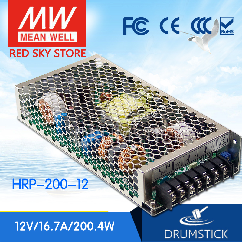 Selling Hot MEAN WELL HRP-200-12 12V 16.7A meanwell HRP-200 12V 200.4W Single Output with PFC Function Power Supply mean well hrp 200 48 48v 4 3a meanwell hrp 200 48v 206 4w single output with pfc function power supply [hot1]