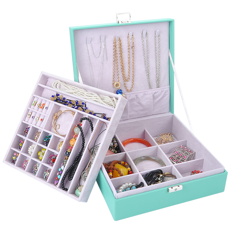 New Style Creative Jewelry Earring Storage Box Fashion Leather Jewel Casket Candy Pattern Top Grade Leather Jewelry Holder